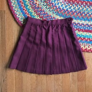 Los Angeles Apparel Bergundy Mini Tennis Skirt
